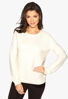 ICHI Maomi Sweater 10111 Offwhite Bubbleroom.se