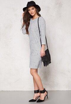 ICHI Panama Dress 10111 Cloud Dancer Bubbleroom.se