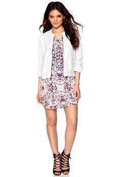 ICHI Umba Jacket 10100 White Bubbleroom.se
