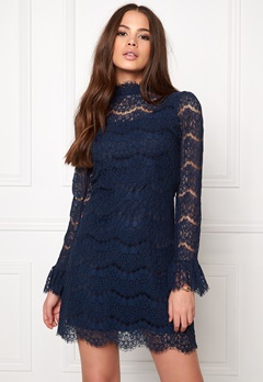 Ida Sjöstedt Belle dress Navy Bubbleroom.se