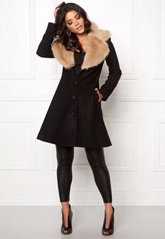 Ida Sjöstedt Tracey coat Black/Beige Bubbleroom.se
