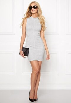 Chiara Forthi Intrend Ribbed Dress Marled Grey Bubbleroom.se