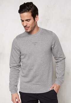 JACK&JONES Ask Sweat Crew Neck Light Grey Melange Bubbleroom.se