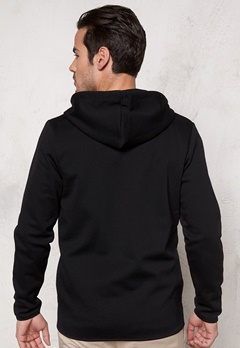 JACK&JONES Basic Sweat Zip Hood Black Bubbleroom.se