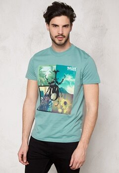 JACK&JONES Collage ss Tee Mineral Blue Bubbleroom.se
