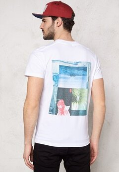 JACK&JONES Collage ss Tee White Bubbleroom.se