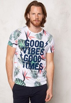 JACK&JONES Gilliam Tee ss Crew Neck White Bubbleroom.se