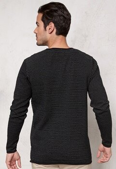 JACK&JONES Grant Knit Crew Neck Black Bubbleroom.se