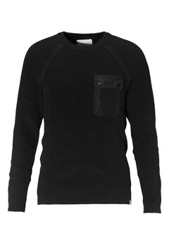 JACK&JONES Houston Knit Crew Neck Black Bubbleroom.se