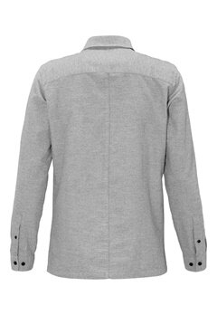 JACK&JONES Jonas L/S Shirt Light Grey Melange Bubbleroom.se
