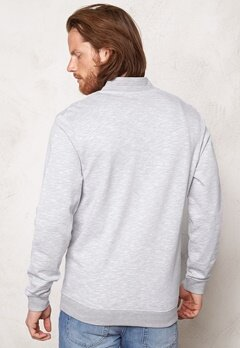JACK&JONES Lock Baseball Sweatshirt Light Grey Melange Bubbleroom.se