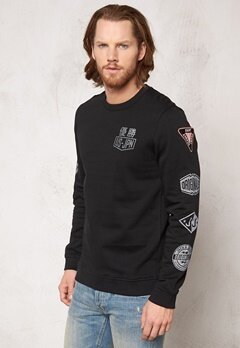 JACK&JONES Logo Sweat Crewneck Black Bubbleroom.se