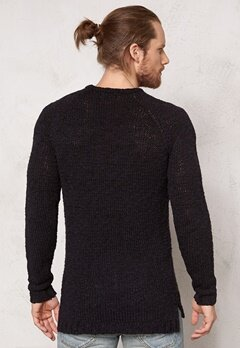 JACK&JONES Pete Knit Black Bubbleroom.se