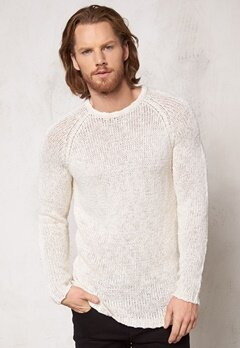 JACK&JONES Pete Knit Cloud Dancer Bubbleroom.se