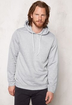 JACK&JONES Roy Sweat Hood Light Grey Melange Bubbleroom.se