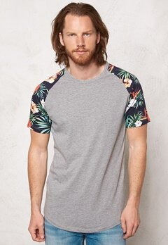 JACK&JONES Stan Tee Light Grey Melange Bubbleroom.se