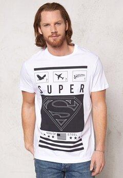 JACK&JONES Superman Tee White Bubbleroom.se