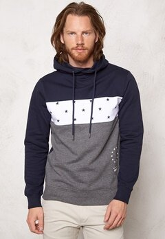 JACK&JONES Tigers Sweat Hood Navy Blazer Bubbleroom.se