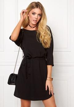 Jacqueline de Yong Bardot 3/4 dress Black Bubbleroom.se