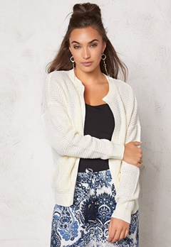Jacqueline de Yong Chloe l/s Pocket Cardigan Cloud Dancer Bubbleroom.se
