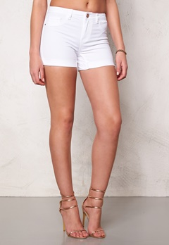 Jacqueline de Yong Five Denim Shorts White Bubbleroom.se