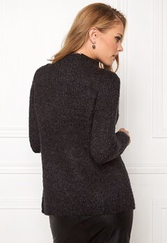 Jacqueline de Yong Gaby l/s button cardigan Dark grey melange Bubbleroom.se