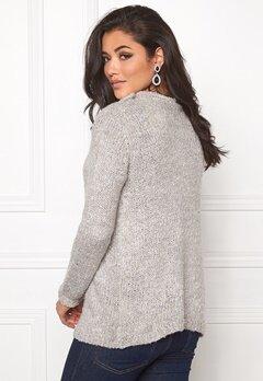 Jacqueline de Yong Gaby l/s button cardigan Light grey melange Bubbleroom.se