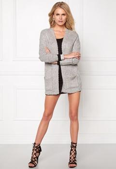 Jacqueline de Yong Gaby l/s cardigan Light grey melange Bubbleroom.se