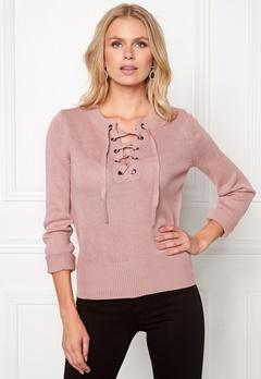 Jacqueline de Yong Gigi l/s pullover Woodrose Bubbleroom.se