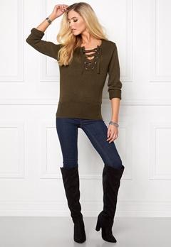 Jacqueline de Yong Gigi l/s pullover Wren Bubbleroom.se