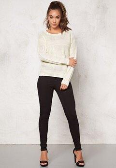 Jacqueline de Yong Gino l/s Pullover Knit Cloud Dancer Bubbleroom.se