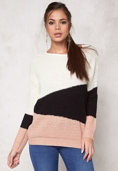 Jacqueline de Yong Mona l/s Pullover Knit Mahogany Rose Bubbleroom.se