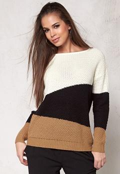 Jacqueline de Yong Mona l/s Pullover Knit Tobacco Brown Bubbleroom.se