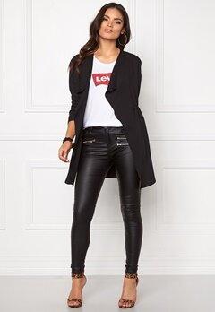 Jacqueline de Yong Mona l/s shirtigan Black Bubbleroom.se