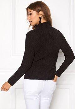 Jacqueline de Yong Raven highneck pullover Black Bubbleroom.se