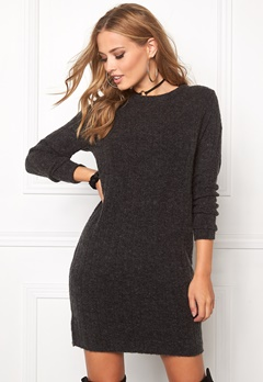 Jacqueline de Yong Raven l/s dress Dark grey melange Bubbleroom.se