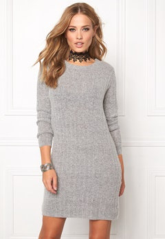 Jacqueline de Yong Raven l/s dress Light grey melange Bubbleroom.se