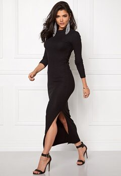 Jacqueline de Yong Ribby l/s dress Black Bubbleroom.se