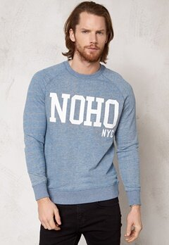 SELECTED HOMME Jens Crew Neck Sweat Light Grey Melange Bubbleroom.se