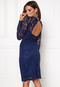 VERO MODA Joy Janet LS Dress Medieval Blue Bubbleroom.se