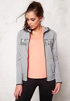 ONLY PLAY Joyelle Sweat Hoodie Light Grey Melange Bubbleroom.se