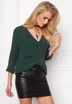Make Way Juno Blouse Dark green Bubbleroom.se