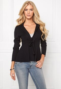 Chiara Forthi Kelly Cotton Cardigan Black Bubbleroom.se