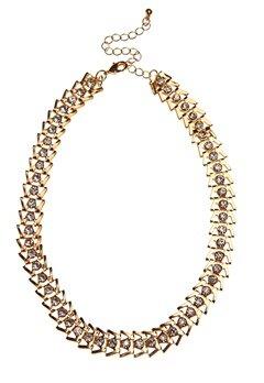 Pixie & Diamond Ladies Choker Black/Gold Bubbleroom.se