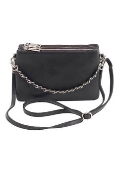 Mixed from Italy Leather Clutch Black Bubbleroom.se