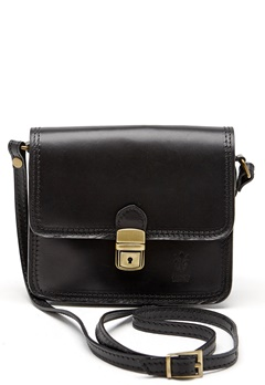 Mixed from Italy Leather Saddle Bag Black Bubbleroom.se