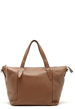 Mixed from Italy Leather Tote Dark Beige/Taupe Bubbleroom.se