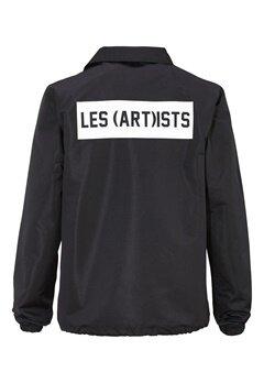Les Artists COACH JACKET BOX LOGO BLACK Bubbleroom.se