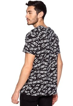 Les Artists Tee all-over Print Black Bubbleroom.se