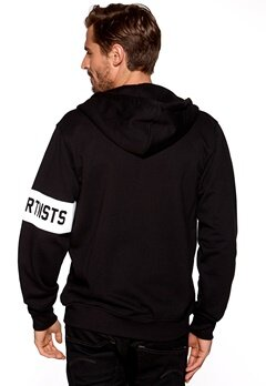 Les Artists Zip Hoodie No Graffitti Black Bubbleroom.se